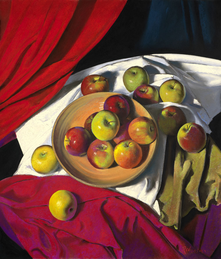 Composition with Red and Green Apples